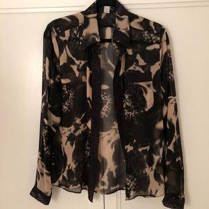 NWOT! Karl Lagerfeld for H&M Sheer Blouse size 10
